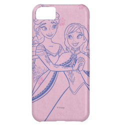 Case-Mate Barely There iPhone 5C Case with Anna & Elsa Sisters Line Drawing design