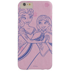 Anna & Elsa Sisters Line Drawing Case-Mate Barely There iPhone 6 Plus Case