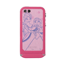 Incipio Feather Shine iPhone 5/5s Case with Anna & Elsa Sisters Line Drawing design