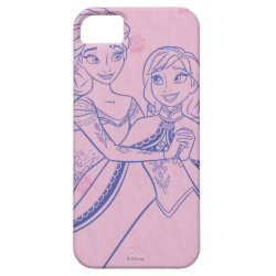 Case-Mate Vibe iPhone 5 Case with Anna & Elsa Sisters Line Drawing design
