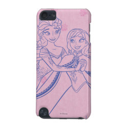 Case-Mate Barely There 5th Generation iPod Touch Case with Anna & Elsa Sisters Line Drawing design