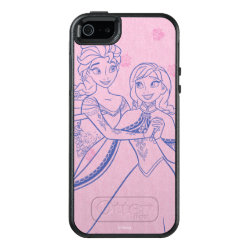 OtterBox Symmetry iPhone SE/5/5s Case with Anna & Elsa Sisters Line Drawing design