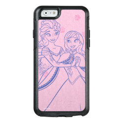 OtterBox Symmetry iPhone 6/6s Case with Anna & Elsa Sisters Line Drawing design