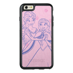 OtterBox Symmetry iPhone 6/6s Plus Case with Anna & Elsa Sisters Line Drawing design
