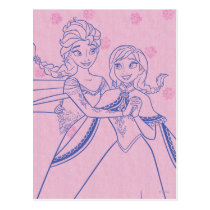 Anna and Elsa | I Love My Sister Postcard