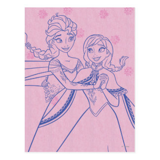 Anna and Elsa | I Love My Sister Postcard
