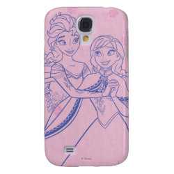 Case-Mate Barely There Samsung Galaxy S4 Case with Anna & Elsa Sisters Line Drawing design