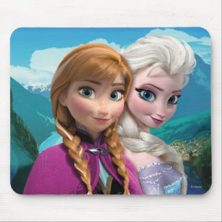 Anna and Elsa Mouse Pad