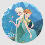Anna and Elsa | My Sister Loves Me Classic Round Sticker