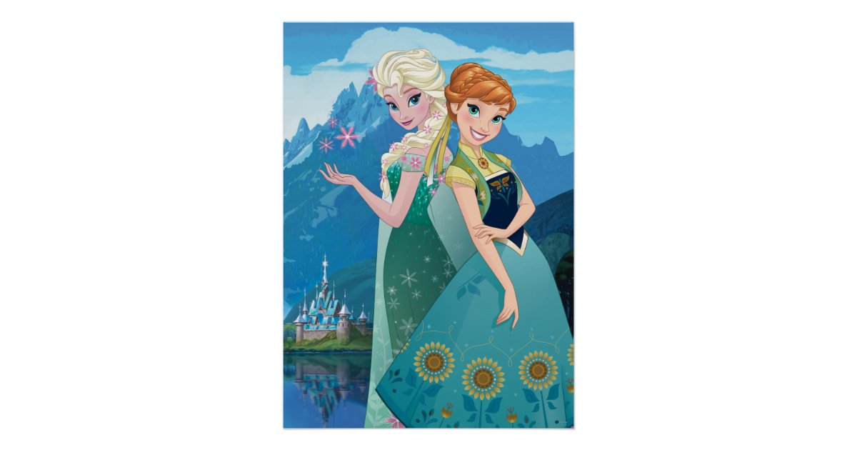 Anna And Elsa My Sister Loves Me Poster Zazzle Com