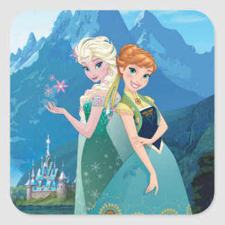 Anna and Elsa | My Sister Loves Me Square Sticker