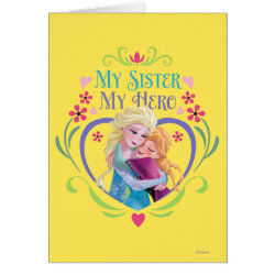 Greeting Card with My Sister My Hero design