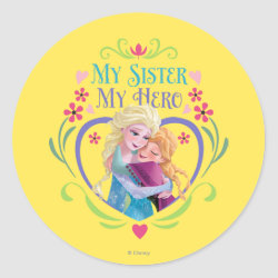 Round Sticker with My Sister My Hero design
