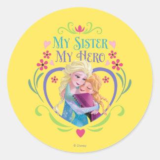 Anna and Elsa   My Sister My Hero Classic Round Sticker