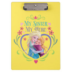 Clipboard with My Sister My Hero design