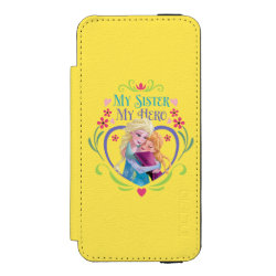 Incipio Watson™ iPhone 5/5s Wallet Case with My Sister My Hero design