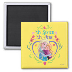 Square Magnet with My Sister My Hero design