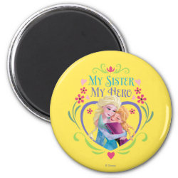 Round Magnet with My Sister My Hero design