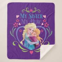 Anna and Elsa | My Sister My Hero Sherpa Blanket
