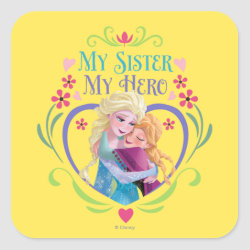 Square Sticker with My Sister My Hero design