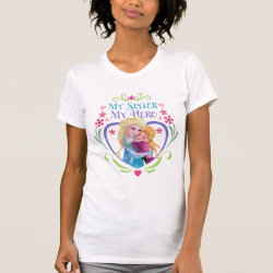 Women's American Apparel Fine Jersey Short Sleeve T-Shirt with My Sister My Hero design