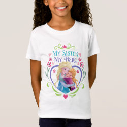 Girls' Fine Jersey T-Shirt with My Sister My Hero design