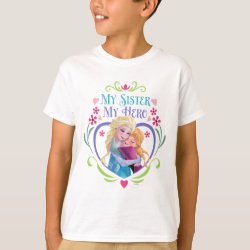 Kids' Hanes TAGLESS® T-Shirt with My Sister My Hero design