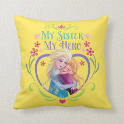Cotton Throw Pillow with My Sister My Hero design