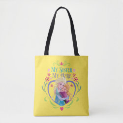 All-Over-Print Tote Bag, Medium with My Sister My Hero design