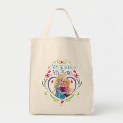 Grocery Tote with My Sister My Hero design