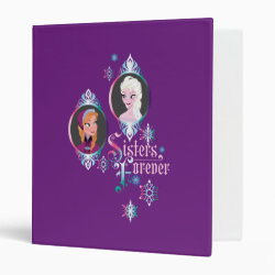 Avery Signature 1' Binder with Frozen's Anna & Elsa: Sisters Forever design