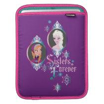 Anna and Elsa   Portraits in Snowflakes iPad Sleeve