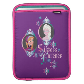Anna and Elsa | Portraits in Snowflakes iPad Sleeve
