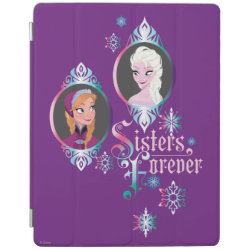 iPad 2/3/4 Cover with Frozen's Anna & Elsa: Sisters Forever design