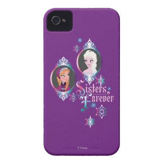 Anna and Elsa | Portraits in Snowflakes iPhone 4 Case