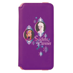 Incipio Watson™ iPhone 6 Wallet Case with Frozen's Anna & Elsa: Sisters Forever design