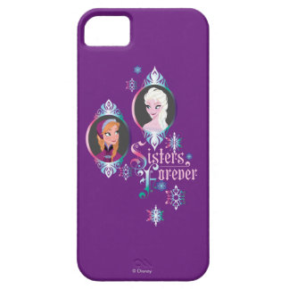 Anna and Elsa | Portraits in Snowflakes iPhone SE/5/5s Case