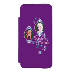 Incipio Watson™ iPhone 5/5s Wallet Case with Frozen's Anna & Elsa: Sisters Forever design