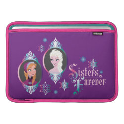 Macbook Air Sleeve with Frozen's Anna & Elsa: Sisters Forever design