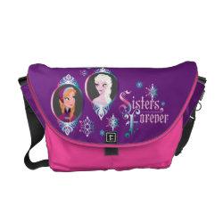 Rickshaw Medium Zero Messenger Bag with Frozen's Anna & Elsa: Sisters Forever design