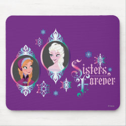 Mousepad with Frozen's Anna & Elsa: Sisters Forever design
