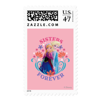 Anna and Elsa | Portraits in Snowflakes Postage