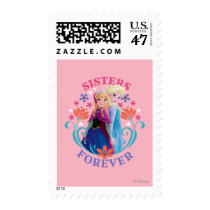 Anna and Elsa | Portraits in Snowflakes Stamp