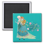 Anna and Elsa | Sister Love 2 Inch Square Magnet