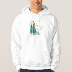 Men's Basic Hooded Sweatshirt with The Gift of Love: Frozen Fever Sisters design