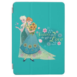 iPad Air Cover with The Gift of Love: Frozen Fever Sisters design