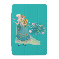 iPad mini Cover with The Gift of Love: Frozen Fever Sisters design