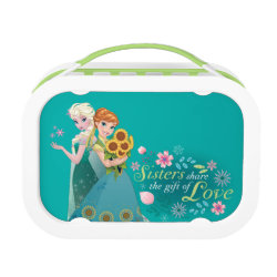 Green yubo Lunch Box with The Gift of Love: Frozen Fever Sisters design