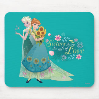 Anna and Elsa | Sister Love Mouse Pad