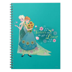 Photo Notebook (6.5' x 8.75', 80 Pages B&W) with The Gift of Love: Frozen Fever Sisters design